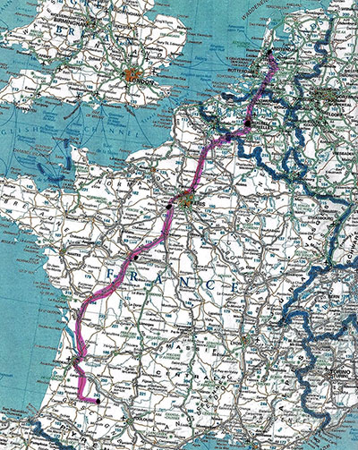 Map of La Descente April 2016